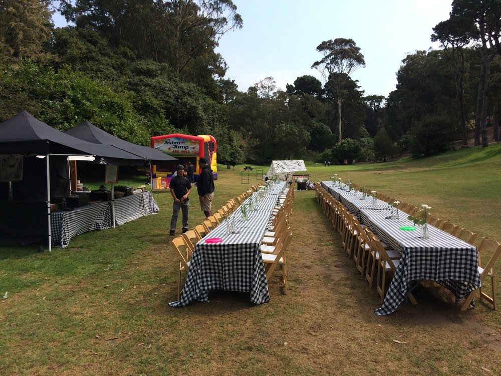 Golden Gate Park- Corporate BBQ's, Birthday Parties, Family Gathering's
