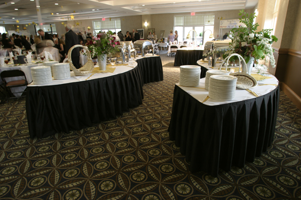 Estes Williams Room - serpentine tables for buffet or bar