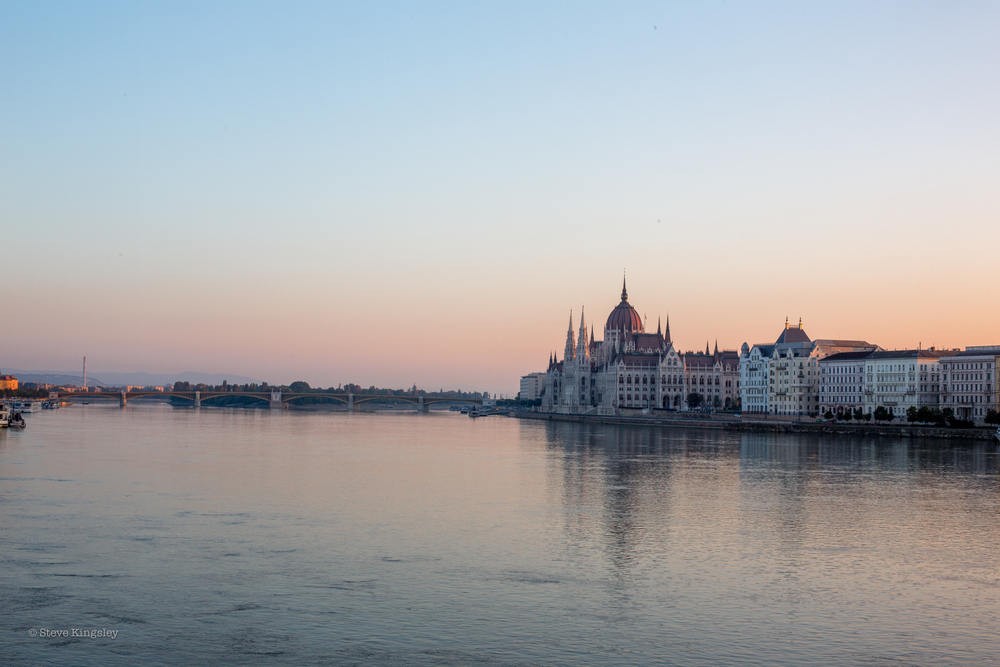 Hungarian Parliament Building and the Danube, Budapest, Hungary