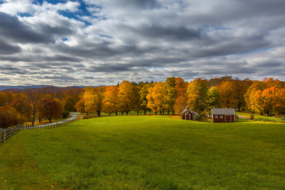 Fall foliage from Galaxy Hill, Woodstock, Vermont