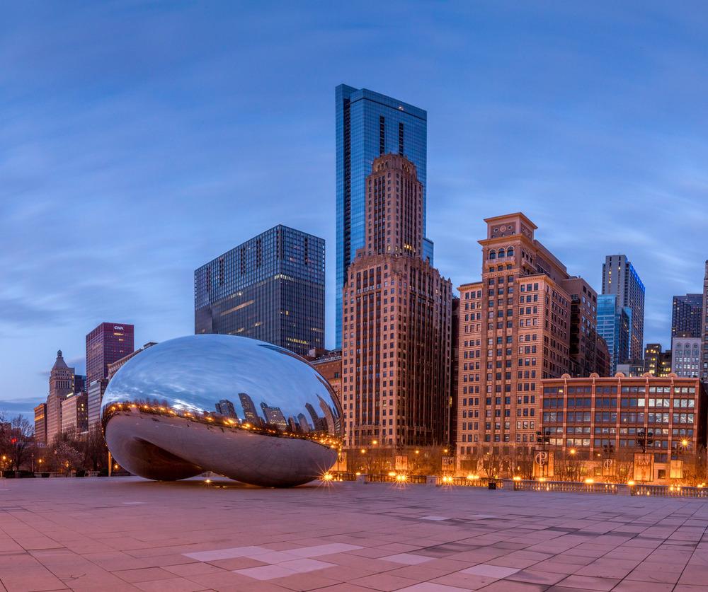 Cloud Gate at Sunrise, Chicago, Illinois