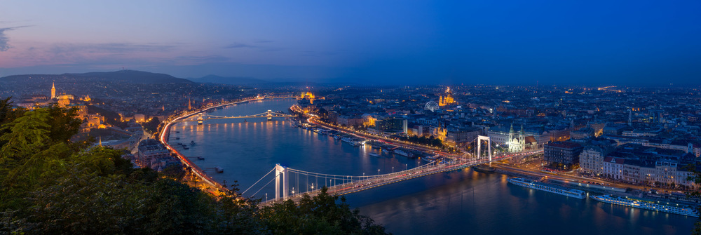 View of Budapest from the Citadel, Gellért Hill, Budapest, Hungary