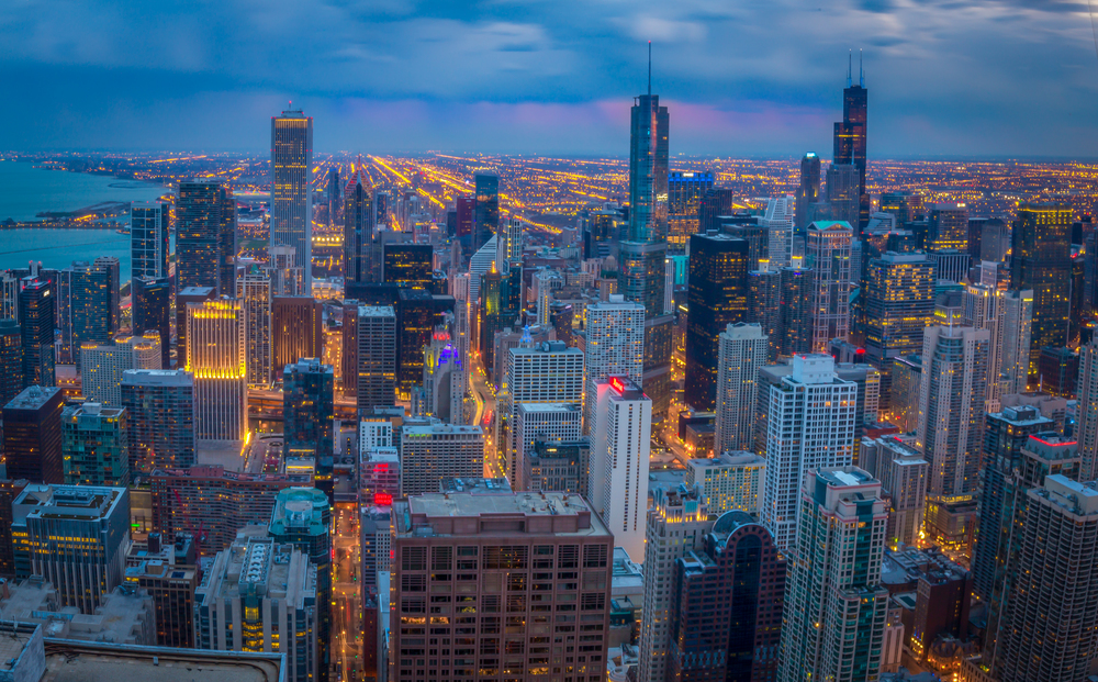 Chicago Skyline from the John Hancock Tower