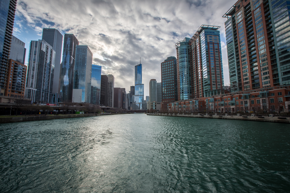 Cityscape from the Chicago River
