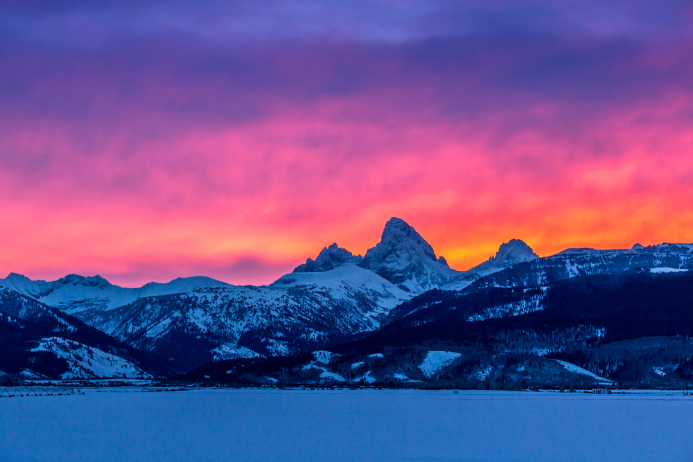 Tetons at Sunrise, Driggs, Idaho