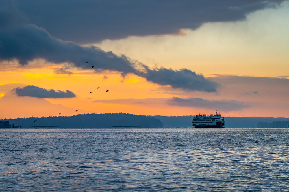 Ferry at Sunrise