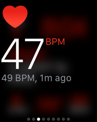 Apple watch gives heart rate at a glance during a morning rehearsal at Tanglewood.