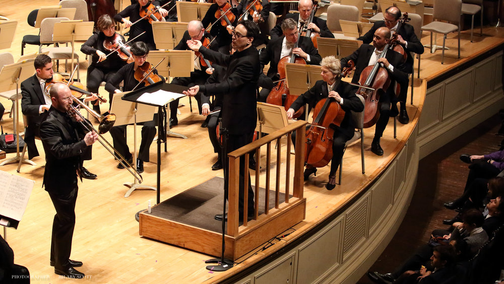 Performing the Nino Rota Concerto with the Boston Symphony Orchestra, Ken-David Masur conducting.