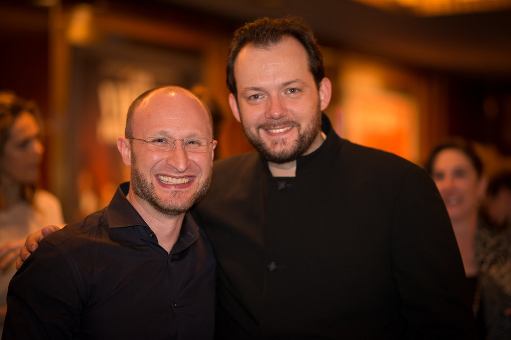 With Maestro, Andris Nelsons after the Shostakovich, No. 7 concert at Carnegie Hall.