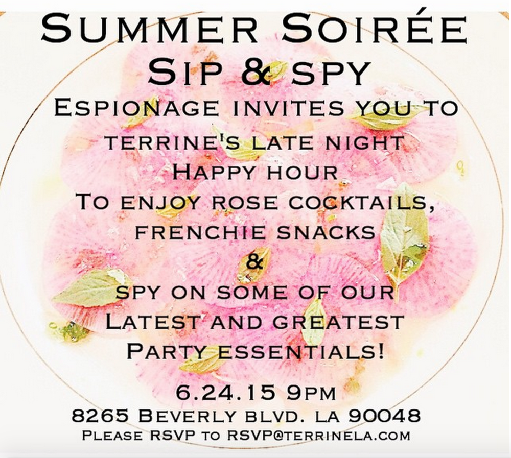 @espionagela @terrinerestaurant