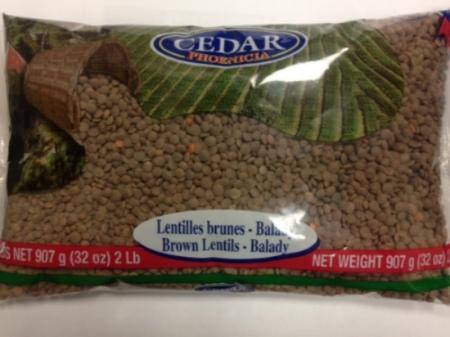Cedar Brown Lentils Balady