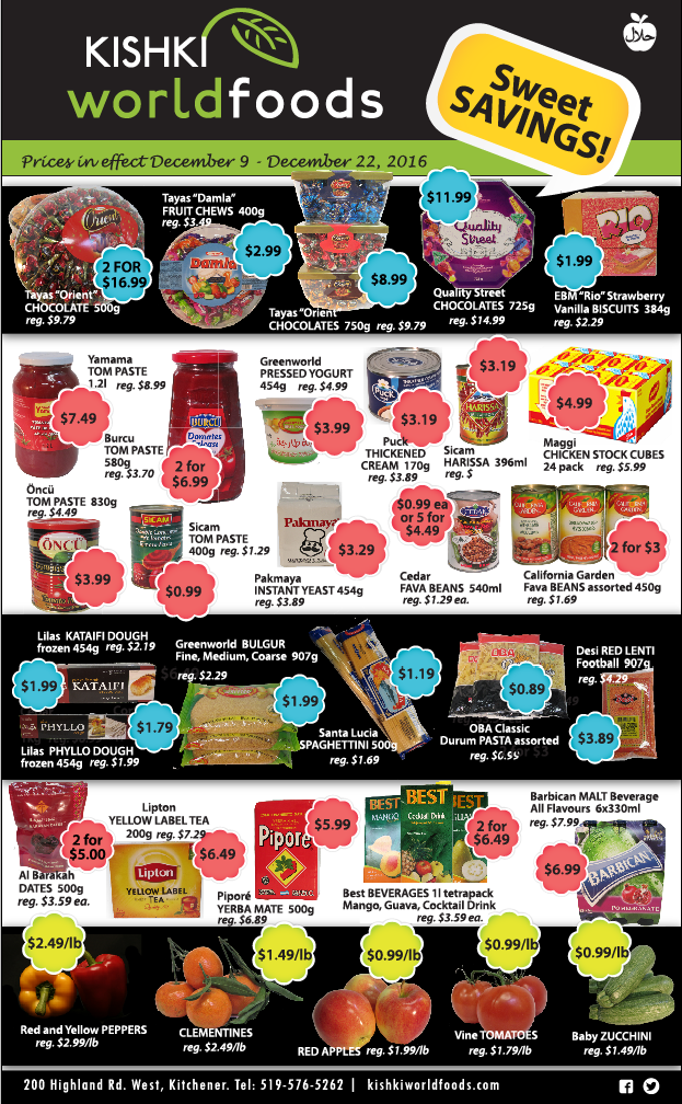 Kishki World Foods Flyer Dec 9-22