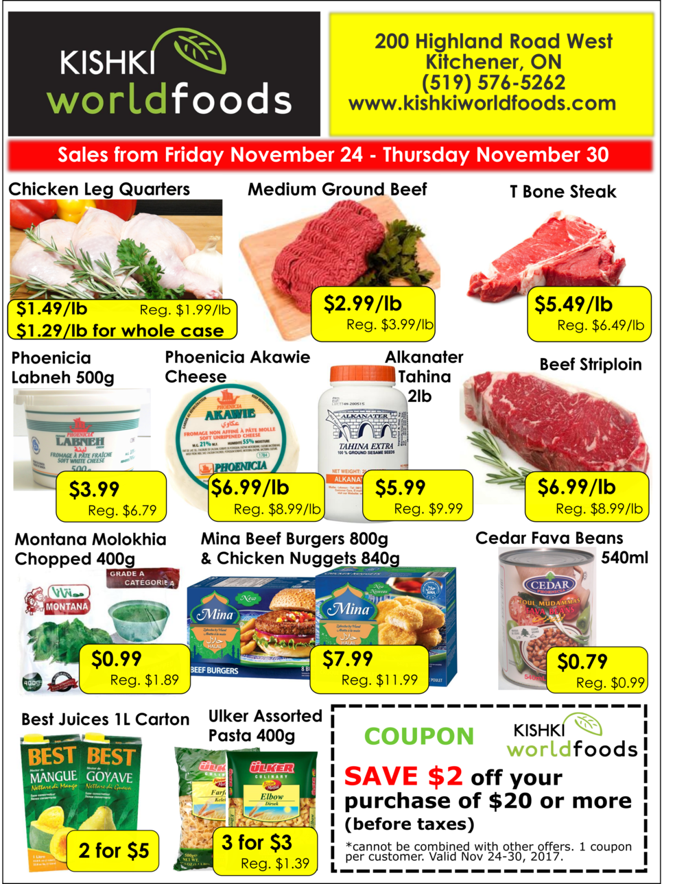 Kishki World Foods Flyer Nov 24-30