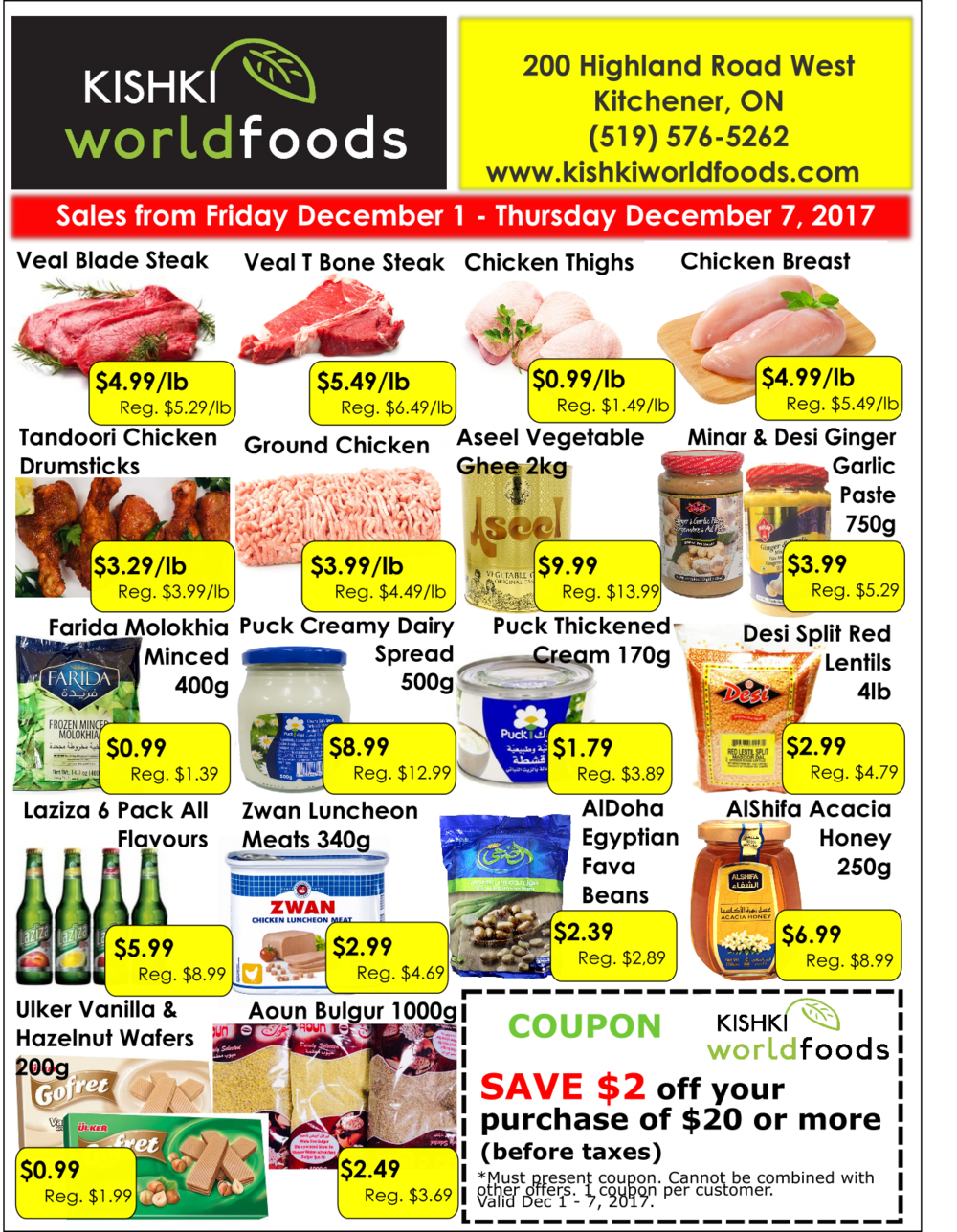 Kishki World Foods Flyer Dec 1-7