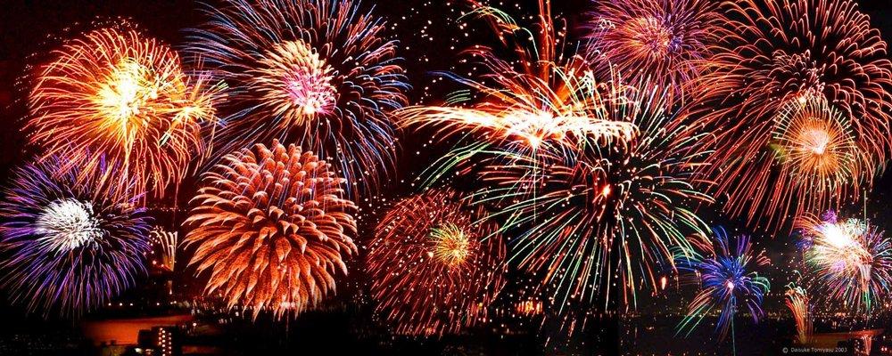 Fireworks at Dusk! -