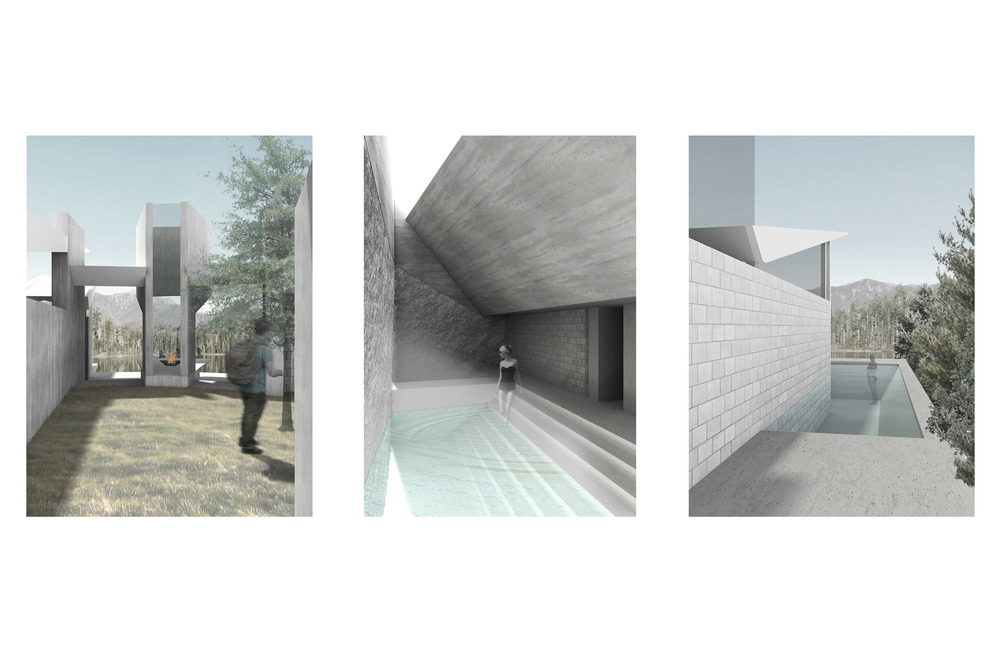 Experiential Renderings - Courtyard, Caldarium, Tepidarium