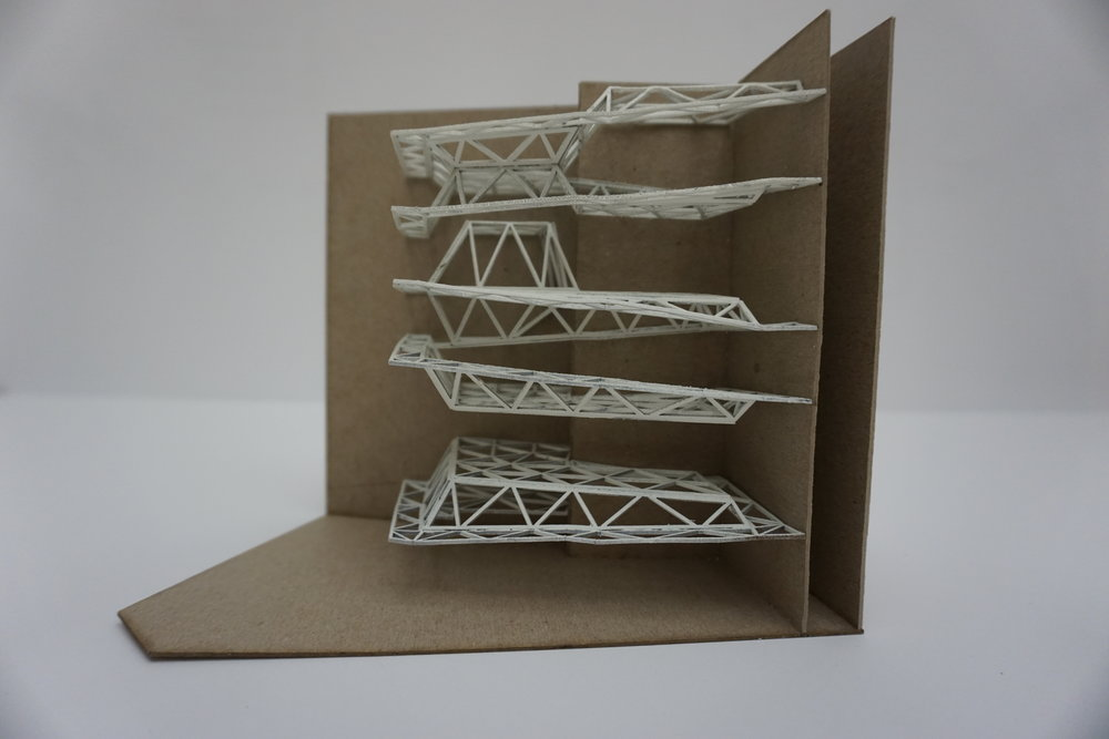 Preliminary structural model: floor plate triangulation