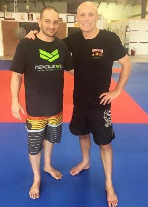 Brian Rozenblum representing Next Level Krav Maga while getting his Dirty Boxing Instructor Certification from Guro Daniel Sullivan.