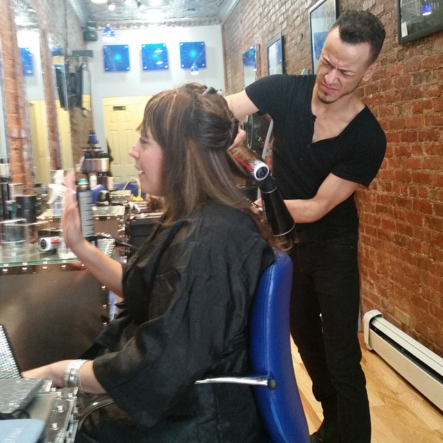 Sergio's audition at Franc Michael Salon! Its in the making. Stay tuned I will show you the end results!