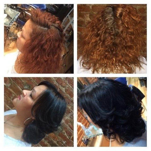 We at Franc Michael Salon use Keratin Kerahold color for best results!