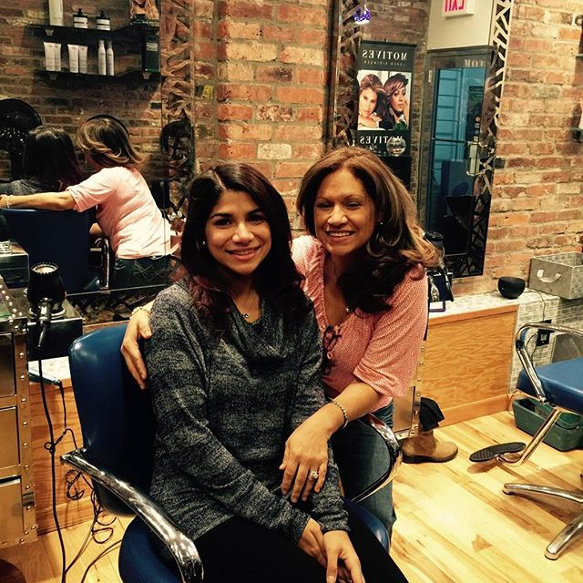 Happy beautiful ladys at Franc Michael Salon in Brooklyn.