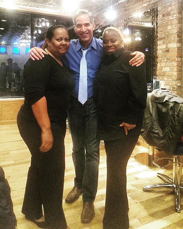 With charmaine and kathleenn at the salon