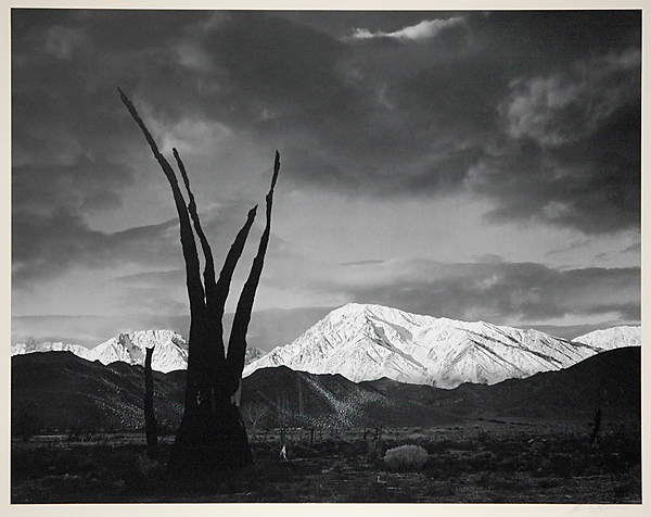 Sunrise, Mount Tom, Sierra Nevada, California,   1948. Gelatin silver print, ca. 1960s. Mounted, signed in pencil. Image measures 10 3/8 x 13 3/8 inches. Inventory #C1192.  Terms    |    Inquire