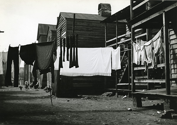 Untitled, [clothes on line], ca. 1938. Vintage gelatin silver print ca. 1938. Image measures 6 3/4 X 9 5/8 inches. Inventory PS0019. SOLD