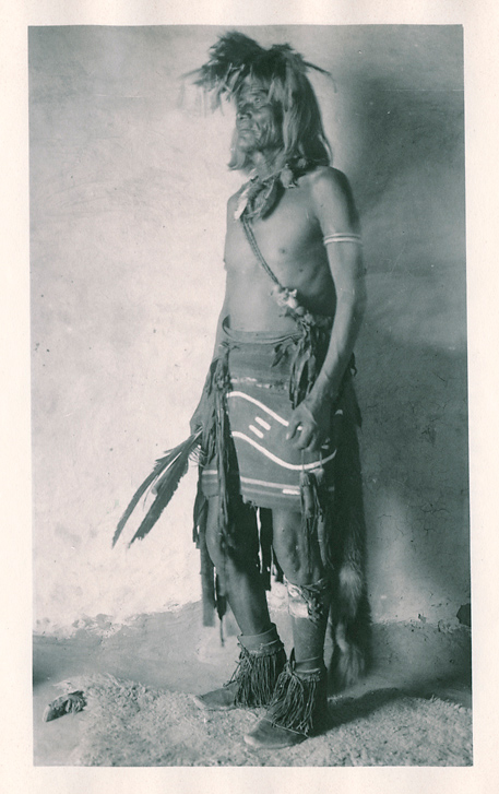 Supela, Snake Priest. Walpi,   1901. Vintage Platinum Print, printed ca. 1901. Image measures 7 1/2 x 4 7/16 inches. Inventory #C1073.  Terms  |   Inquire