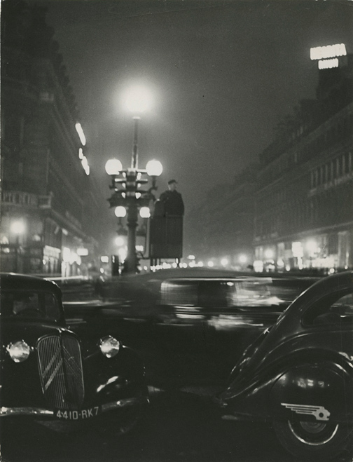 Place de l'Opera, 1930s.   Vintage Gelatin Silver Print, printed ca. 1930s. Image measures 9 3/16 x 7 inches. Inventory #C1431.  Terms    |    Inquire