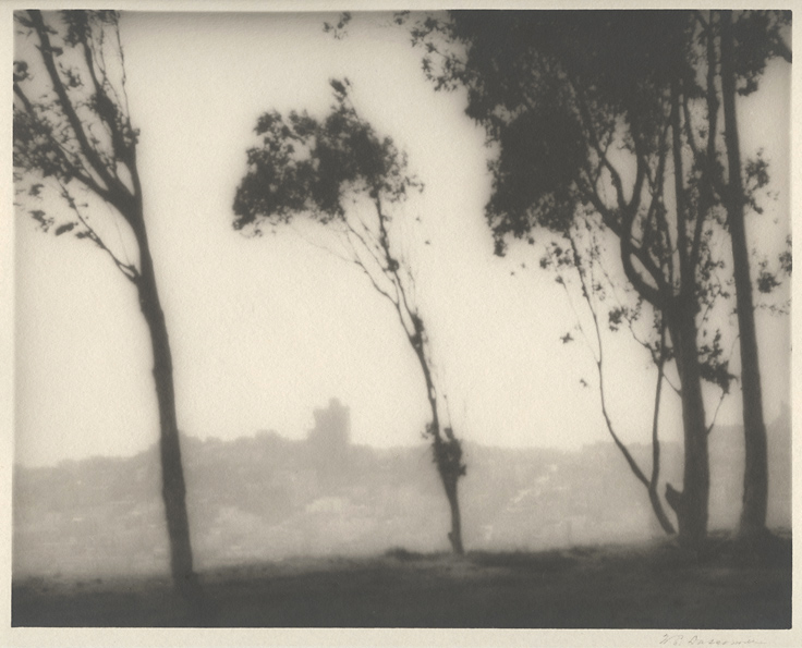 View from Telegraph Hill, San Francisco,    ca. 1925. Vintage gelatin silver print (Charcoal Black paper). Signed in pencil.  Image measures 7 7/8 x 9 7/8 inches. Inventory #C0480  Terms    |    Inquire
