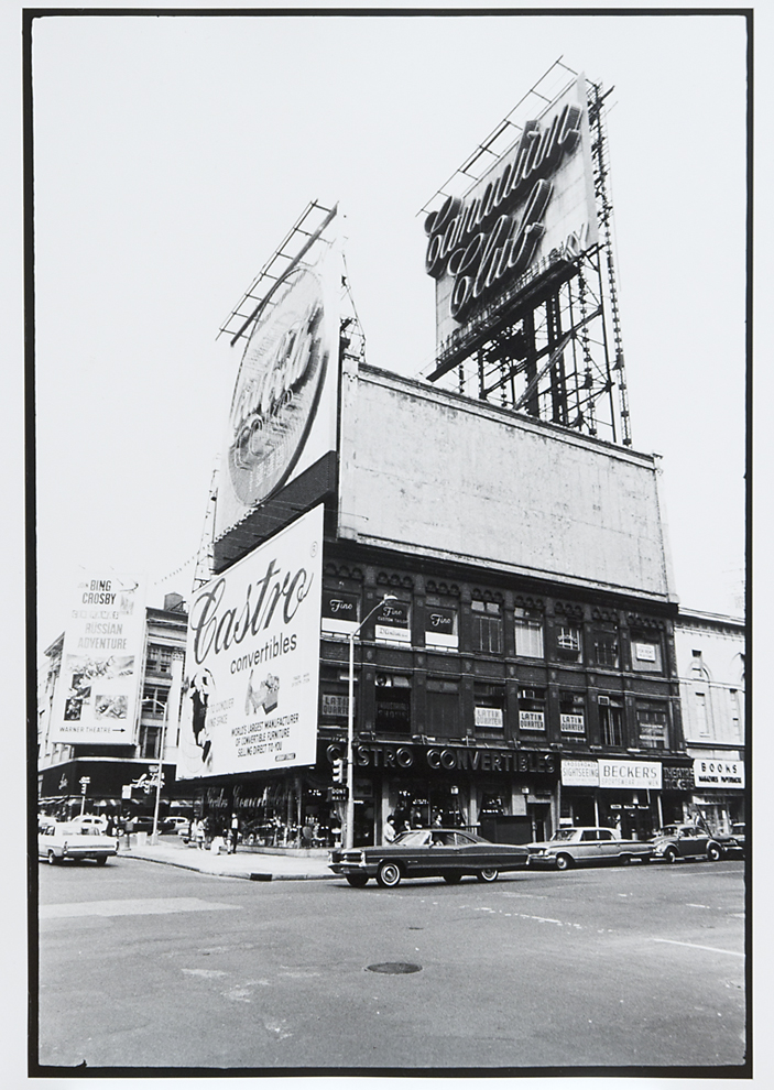 Untitled [47th St. & 7th Ave., New York],       1966. Vintage Gelatin Silver Print. Credit stamp on back with negative number in pencil. Image measures 13 1/4 x 9 inches. Inventory #C0755.  Terms    |    Inquire