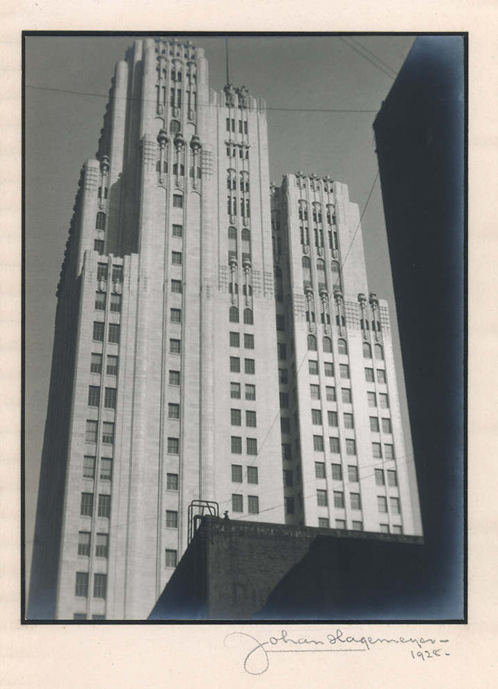 Telephone Building, San Francisco ,         1928. Vintage gelatin silver print.  Signed, titled and dated in pencil on mount.   Image measures 9 3/4 x 7 3/8 inches. Inventory #C0361.    Terms    |    Inquire