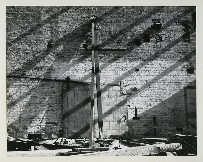 Untitled [side of brick building], ca. 1950s. Vintage gelatin silver print, ca. 1950s. Image measures 7 1/2 x 9 7/16 inches. Signed in pencil on mount front. Credit stamps on mount back. Inventory #CK018. $1,500. Terms  |  Inquire