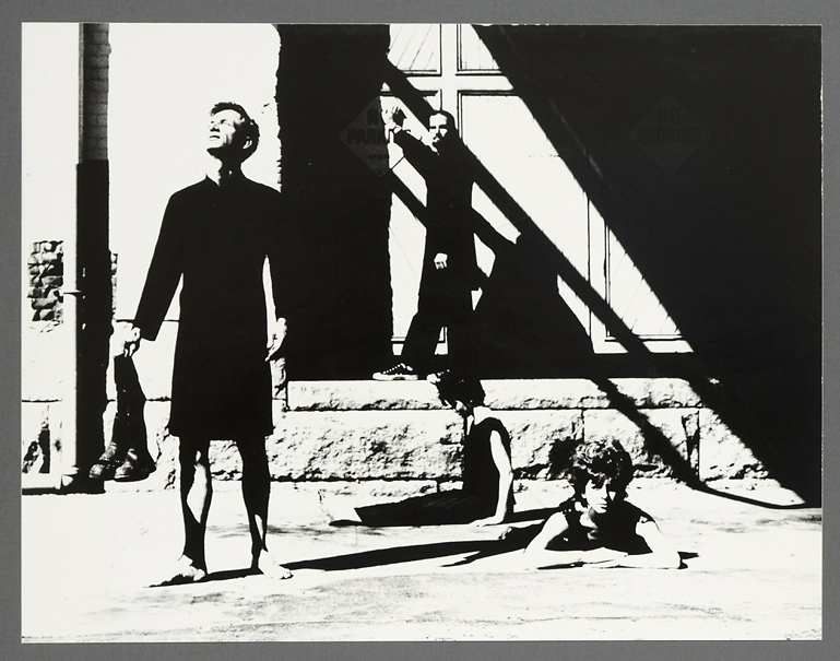 Dancer's Workshop, 1962 Improvisations 2, 1962. Vintage gelatin silver print, ca. 1960s. Image measures 10 1/2 x 13 1/2 inches. Titled and dated on typed label on mount back. Credit stamps on mount back.  Inventory #CK026. $750. Terms  |  Inquire