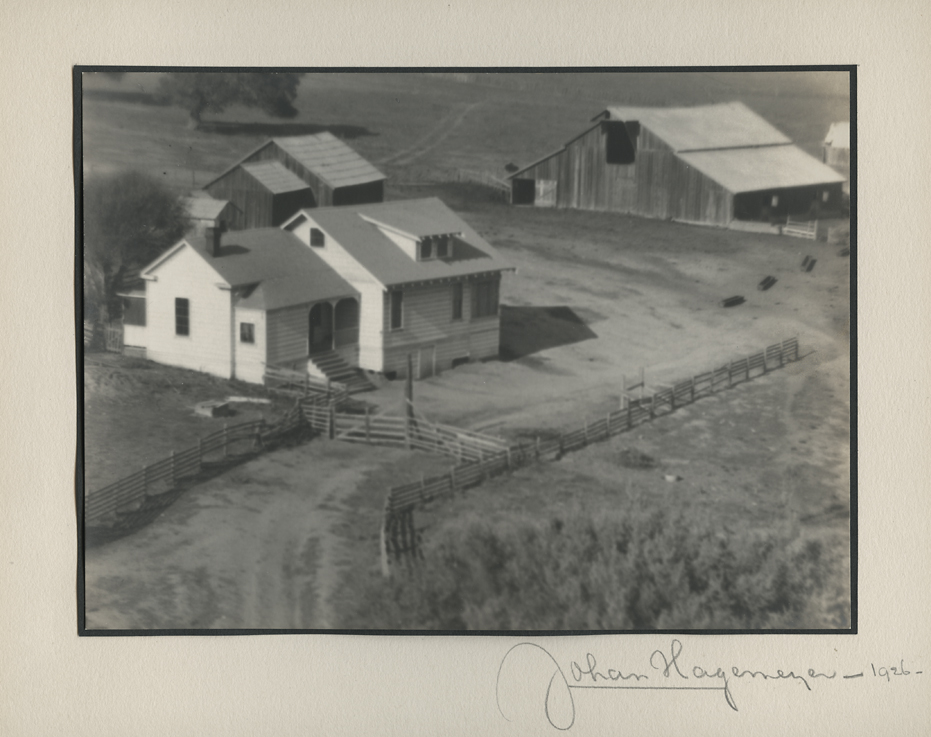 Ranch at San Juan ,         1926. Vintage gelatin silver print.  Signed, titled and dated in pencil on mount.   Image measures  6 1/8 x 8 1/2 inches . Inventory #C1297.    Terms    |    Inquire