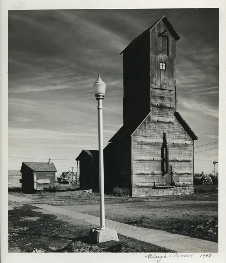 Light Pole and Grain Elevator, 1947. Vintage gelatin silver print. Mounted, signed and dated in pencil on mount below image. Image measures 9 x 7 11/16 inches. Inventory #C1501. Terms  |  Inquire