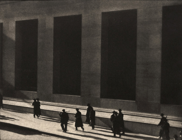 Wall Street,   1916. Hand-pulled photogravure from  Camera Work , No. 48, 1916 .   Image measures 5 3/16 x 6 11/16 inches.  Inventory #CW132.  Terms    |   Inquire