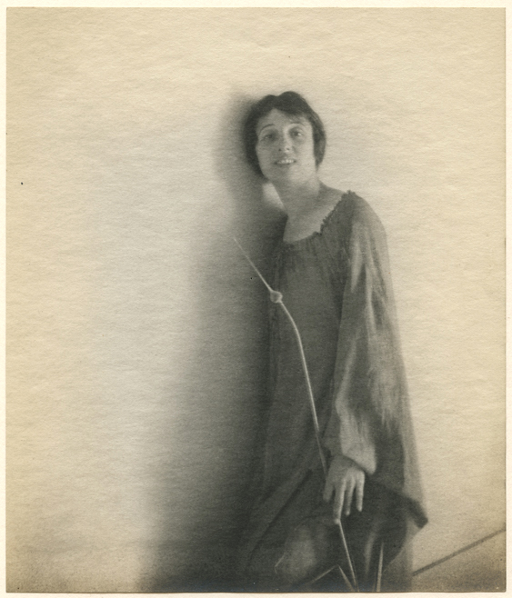Untitled, ca. 1917  . Vintage gelatin silver print on parchment paper. Image measures 9 x 7 1/2 inches. Inventory #MM015.