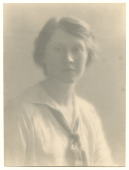 Eleanor,   ca. 1914. Vintage gelatin silver print. Image measures 6 1/16 x 4 1/2 inches. Inventory #MM013.  Terms  |  Inquire