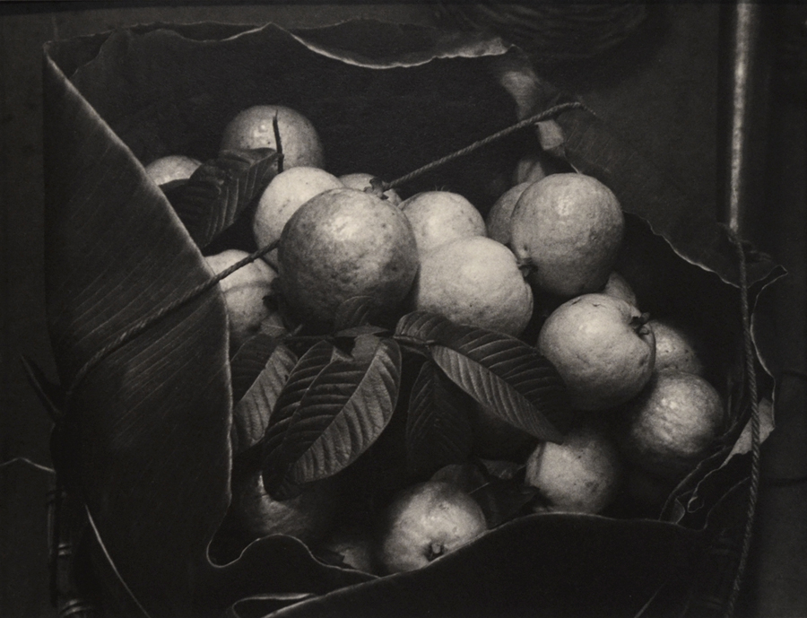 Oranges, Indonesia,   1958. Gelatin Silver Print, printed ca. 1965. Image measures 10 1/4 x 13 3/8 inches inches.  Flush mounted to 3-ply Bainbridge bristol board.  A duplicate print made by Irwin Welcher for Lange's 1966 retrospective show at the Museum of Modern Art.  The prints, made to Lange's specifications, included spraying a photo lacquer over the semi-matte 'G' surface to enhance shadow detail and tone.   Inventory #C1663.  Terms    |    Inquire