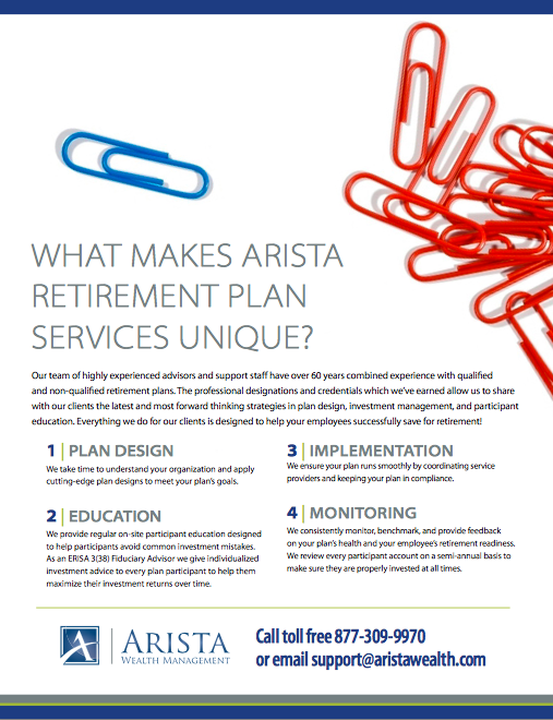 What Makes Arista Retirement Plan Services Unique?