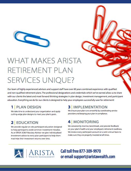 What Makes Arista Retirement Plan Services Unique?