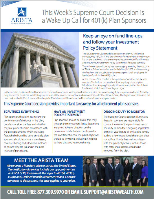 Supreme Court Ruling on 401(k)s