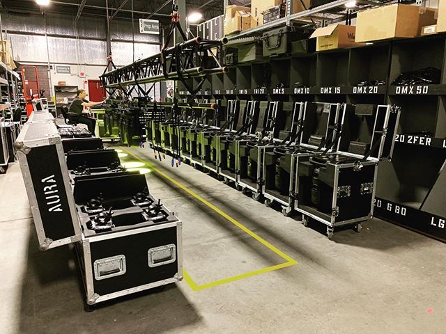SolaFrame 750 spots @sonus_pro getting prepped today @high_end_systems #lightingdesign #brightnessblog #allofthelights