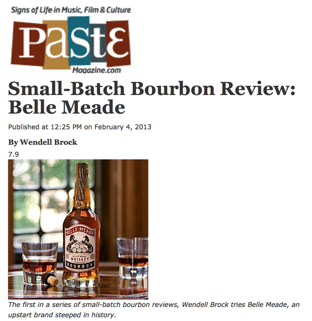 Paste Magazine reviews Belle Meade Bourbon