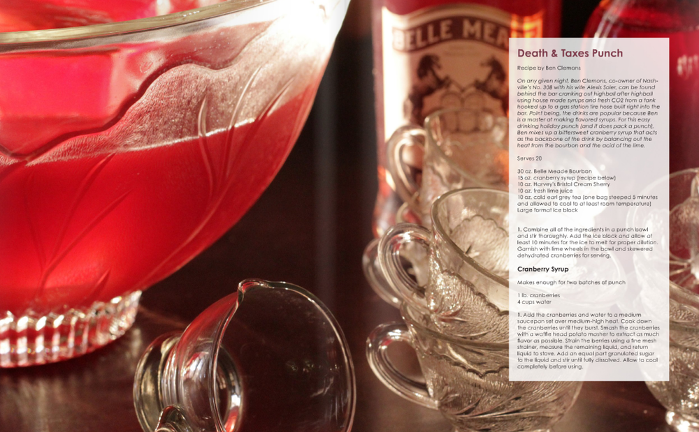 One of several Belle Meade Bourbon recipes featured in the Fall 2013 Spenser Magazine