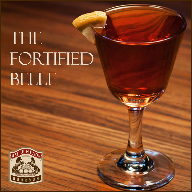 Esquire's Fortified Belle cocktail recipe with Belle Meade Bourbon