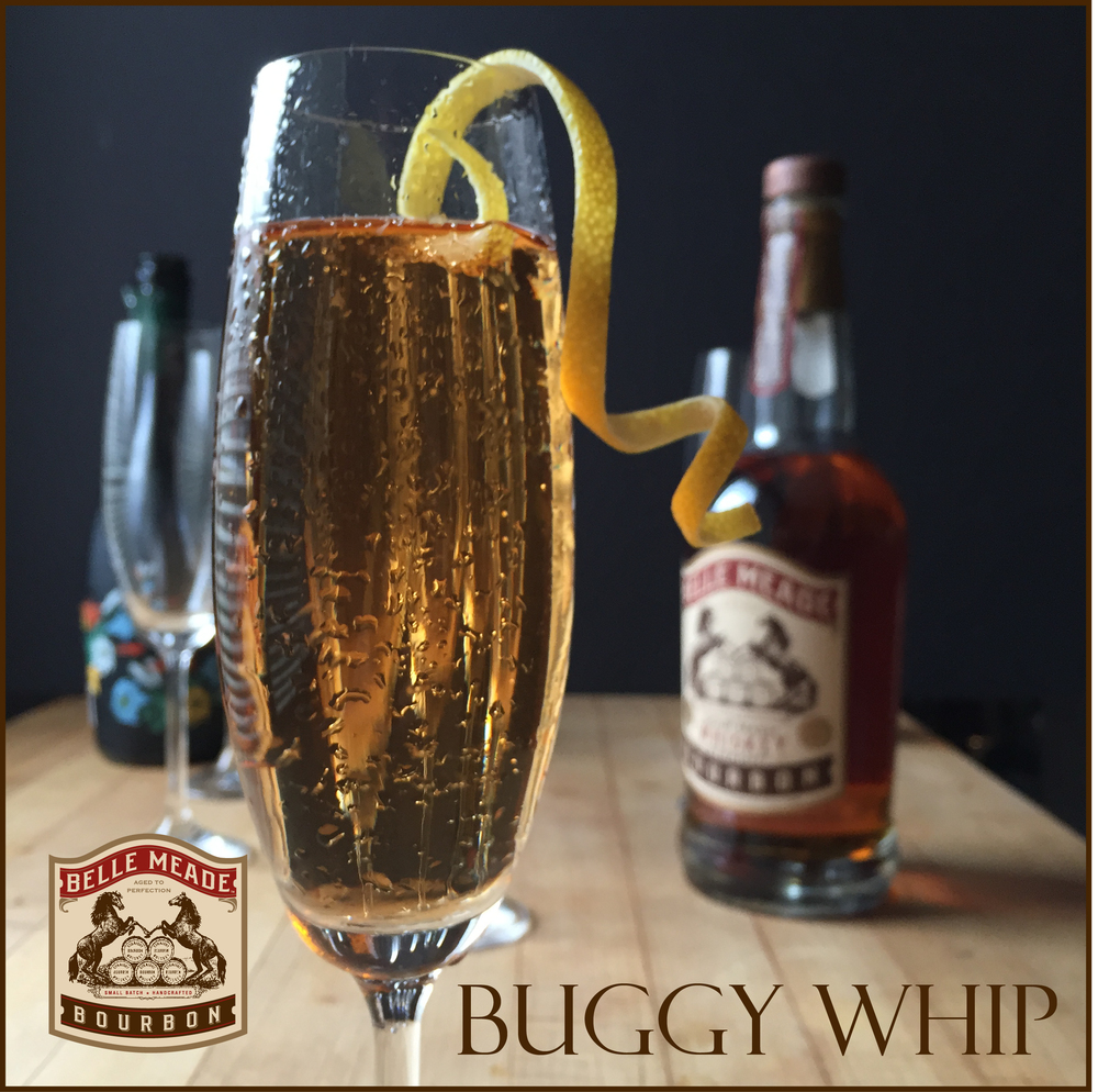 The Buggy Whip: a bubbly holiday cocktail from Belle Meade Bourbon