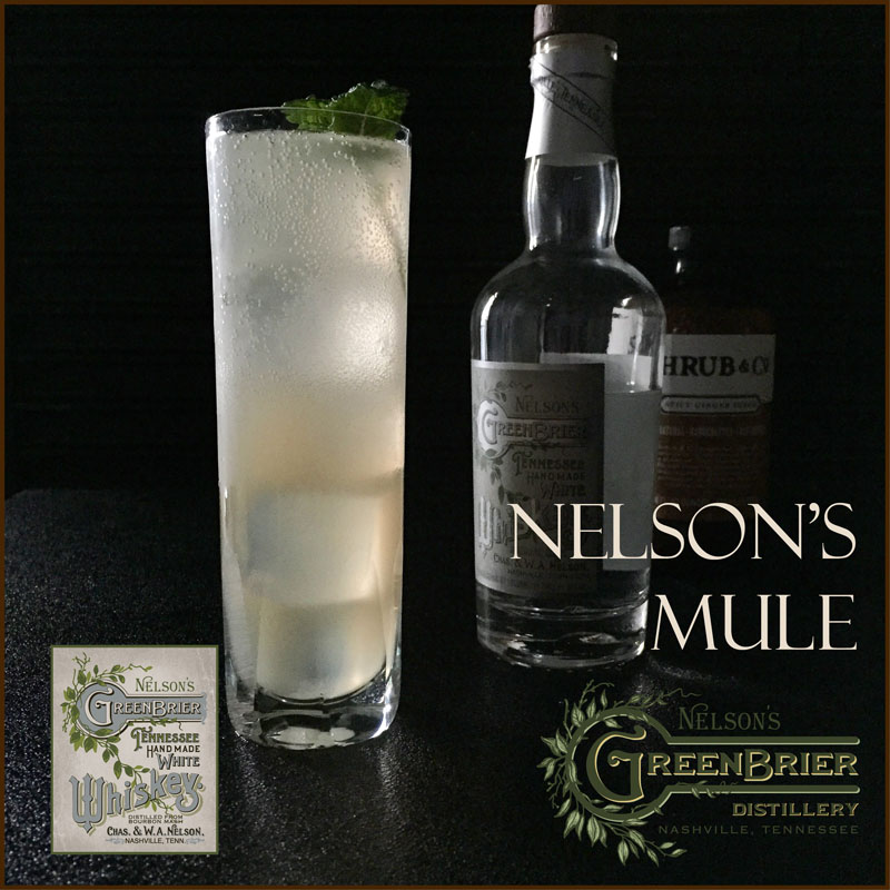 Nelson's Mule: a perfect summertime white whiskey cocktail